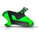rie:sel design kol:oss Stänkskärm grön/svart
